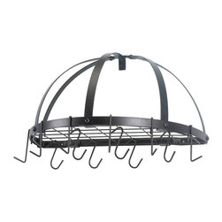 Old Dutch 055 Pan Rack - Classic style wall mount pot rack. In an area of kitchen design which doesn't overwhelm us with great choices, this is a tried and true classic. Comes in several finishes, satin copper, oiled bronze, satin nickel.