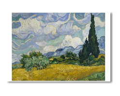 "PosterEnvy - Wheat Field with Cypresses 1889 - Vincent van Gogh - Art Print POSTER - 12"" x 18"" Wheat Field with Cypresses 1889 - Vincent van Gogh - Art Print POSTER on heavy duty, durable 80lb Satin paper"