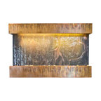 Bluworld - Medium Horizon Falls NSI Lightweight Slate Fountain, Copper Patina - The Medium Horizon Falls fountain takes the Nojoqui Falls fountain concept and turns it quite literally on its side, creating a horizontal wall fountain that measures almost three feet across. This horizontal version of the original Large Nojoqui Falls wall fountain is named after the beautiful 164 foot tall Nojoqui Falls waterfall, located in central California where the Water Wonders line was originated. These water fountains are a truly unique, engaging and an elegant addition to any indoor space.