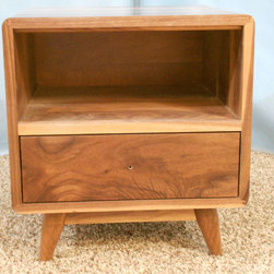 Danish Modern Nightstand (Item #1D635) - Phoenix Woodworking