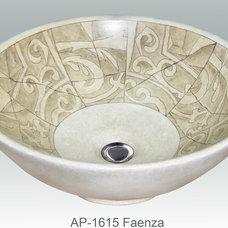 Mediterranean Bathroom Sinks by Atlantis Porcelain Art Corp