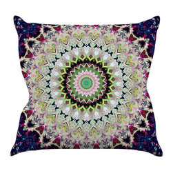 "Kess InHouse - Iris Lehnhardt ""Summer of Folklore"" Pink Navy Throw Pillow (16"" x 16"") - Rest among the art you love. Transform your hang out room into a hip gallery, that's also comfortable. With this pillow you can create an environment that reflects your unique style. It's amazing what a throw pillow can do to complete a room. (Kess InHouse is not responsible for pillow fighting that may occur as the result of creative stimulation)."