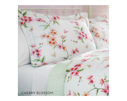 West Point Home - Charisma Cherry Blossoms Queen Comforter Set - FEATURES: