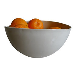 Organic Serving Bowl - This natural and modern shape is the perfect serving bowl. It is big enough for an entree salad, pasta or a veggie with dinner. It's clean lines and elegant organic shape also lends itself to hold fruit on the counter or table for a pop of color.