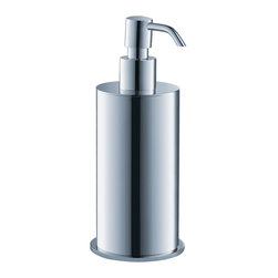 Fresca - Fresca Glorioso Lotion Dispenser - Chrome - All of our Fresca bathroom accessories are made with brass with a triple chrome finish and have been chosen to compliment our other line of products including our vanities, faucets, shower panels and toilets. They are imported and selected for their modern, cutting edge designs.