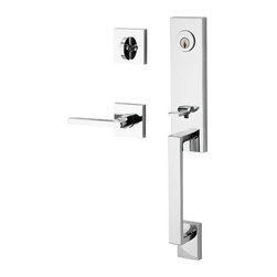Baldwin Hardware - Reserve Seattle SC Handleset with Square RH Lever and Rose in Polished Chrome - Baldwin Reserve combines the tradition of original craftsmanship with advanced technology to provide locks that stand the test of time. Reserve is ideal for designers and homeowners craving a personalized blend of styles.