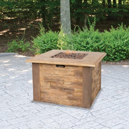 UniFlame Gas Square Firebowl - Fire pits have evolved from caves and campsites to become a central part of modern day outdoor living.