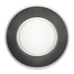 EGS - Ribbons Victoria 8 1/4 Dia x 3/8 H Round Plate/Case of 6 - Descriptions: In two elegant patterns these plates will strike the fancy of any dinner party