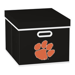 MyOwnersBox - MyOwnersBox Closet Organization College STACKITS Clemson University 12 in. x 10 - Shop for Storage & Organization at The Home Depot. The MyOwnersBox 10 in. x 12 in. x 15 in. Clemson University College STACKITS Stackable Black Fabric Storage Cube has an attractive team embroided logo that looks great in your storage area. Made of sturdy non-woven polypropylene and reinforced with composite wood this storage cube has a collapsible design and folds out to form a perfect bankers box size that fits letter and legal sized folders and hanging files. Great for adding team spirit to your office or home office as well as tight spaces in your closet or college dorm room. The storage cube is also ideal for storing clothing or small toys in your children's room or laundry room. The lid is reinforced to allow stacking of 3 or more storage cubes and each comes with two reinforced plastic handles for easy mobility. Color: Black.
