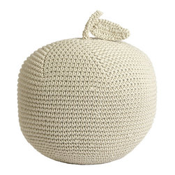 James' Giant Apple Pouf - This crochet pouf would be an adorable accent in a nursery or child's room.