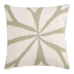 "Surya - Surya Pillow Kit Square Cloud Cream 18"" x 18"" Accent Pillow - Resembling the leaves on a flower, this trendy design brings today's style right to your room. Colors of green and ivory accent this decorative pillow. This pillow contains a down fill and a zipper closure. Add this 18"" x 18"" pillow to your collection today."