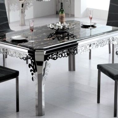 Brindisi Ornate Marble Modern Dining Table