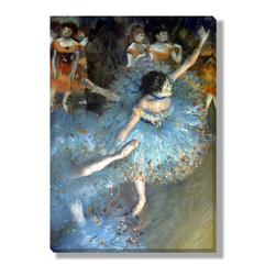 Gallery Direct - 'Ballet Dancers in Blue' Canvas Gallery Wrap by Edgar Degas - The perfect way to add character and depth to your room, this canvas gallery wrap is printed using archival inks on artist grade canvas. Wrapped over 1.5 inch stretcher bars, the print will hang 1.5 inches from your wall.