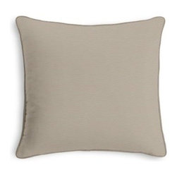 Oyster Cotton Sateen Custom Throw Pillow - Black and white photos, Louis XIV chairs, crown molding: classic is always classy. So it is with this long-time decorator's favorite: the Corded Throw Pillow. We love it in this pale taupe gray lightweight cotton sateen with a beautiful luster and smooth finish.