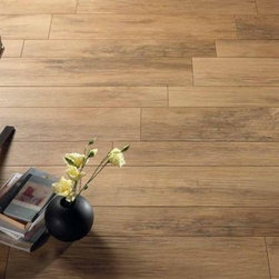 Xilema Porcelain Floor Tile - Wood looking - Wood looking porcelain is maintenance free and will last a lifetime. Xilema has a digital print which creates a large pattern variance so every tile looks unique (like wood).