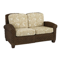 Home Styles - Home Styles Cabana Banana II Love Seat in Cinnamon Finish - Home Styles - Loveseats - 540460 - Bring back the island essence with the Cabana Banana II Love Seat from Home Styles. This eco-friendly piece features frames that are made of 100 percent sustainable natural materials. Construction is from hand braided four over two woven pattern banana leaves; mahogany solids and plywood in a honey finish.