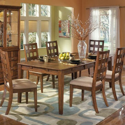 7-pc Clifton Park Rectangular Extension Table Dining Set, Ashley -
