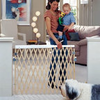 North States Expandable Swing Gate - Because safety doesn't have to be inconvenient the North States Expandable Swing Gate makes it easy to protect your little ones from trouble. Designed to swing both ways for easy walk-through access the gate also folds for simple storage when it's not in use. Comes with an adjustable top security rail one-hand operation capability durable wood construction and secure four-point steel mounting hardware. Works great for pets too. About North StatesAn employee-owned company North States prides itself on bringing high-value products and creative solutions to the juvenile and pet markets. Committed to quality durability and versatility North States is a global leader in the world of safety and innovation. Every piece manufactured by North States is JPMA-certified to meet rigorous safety standards and most are made right here in the USA. From versatile child safety gates to pet enclosures to bird feeders and houses North States protects those you love the most by investing in their safety.
