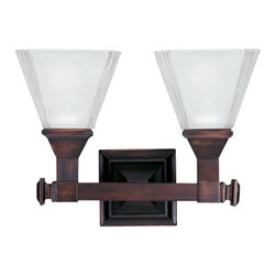 Maxim Lighting - Maxim Lighting 11077FTOI Brentwood 2-Light Bath Vanity In Oil Rubbed Bronze - Features