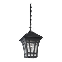 Sea Gull Lighting 60131-12 Herrington Black Outdoor Hanging Lantern