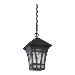 Sea Gull Lighting - Sea Gull Lighting 60131-12 Herrington Black Outdoor Hanging Lantern - Sea Gull Lighting 60131-12 Herrington Black Outdoor Hanging Lantern