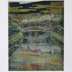 Shigenu Narikawa, Central Park, Aquatint Etching - Artist:  Shigenu Narikawa, Japanese (c. 1945 - )