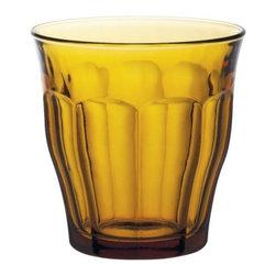 Duralex - Duralex - Picardie Vermeil Tumbler 250 ml (8 3/4 oz.) Set of 4 - Set includes four amber tumblers. Capacity: 8 3/4 ounces, Diameter: 8.7 cm. Height: 9 cm.