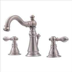 Ultra Faucets - Ultra Faucets Signature Widespread Lavatory - TWO-HANDLE DESIGN FOR PRECISE TEMPERATURE ADJUSTMENT