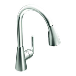Moen - Moen S71708 Ascent High-Arc Pull-Down Single-Handle Kitchen Faucet (Chrome) - The Ascent collection has a bold, simple elegance that enlivens the room and invigorates the spirit. It features a clean, precise, and undeniably contemporary look for any modern home.