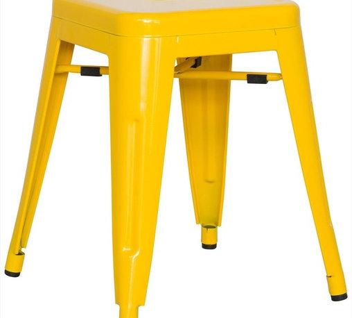 Chintaly Imports - Alfresco Galvanized Steel Side Chair in Yellow - Set of 4 - Alfresco Galvanized Steel Side Chair in Yellow - Set of 4