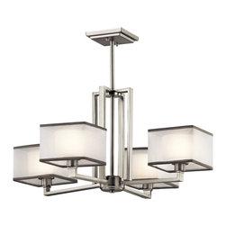 Kichler 4-Light Chandelier - Brushed Nickel - Four Light Chandelier
