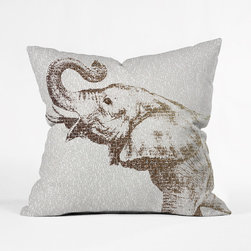 Word to the Wise Elephant Throw Pillow - More than just a throw pillow, this exotic elephant tells a story of its own. Display this decorative accent in your living room and you'll feel as if this majestic creature is trumpeting a song just for you.