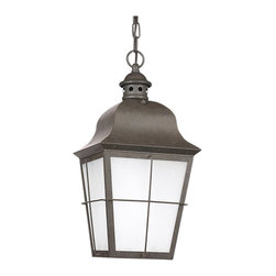 Sea Gull Lighting - Sea Gull Lighting 69272BLE-46 Chatham 1 Light Outdoor Pendants/Chandeliers in Ox - Fluorescent Outdoor Pendant One Light Oxidized Bronze Finish
