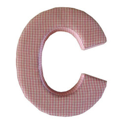 Fabric Wall Letters - Pink Gingham - All Uppercase Letters Available, Letter C - Choose our Pink Gingham fabric letters to create your own unique wall art or personalise your little child's bedroom or baby nursery.