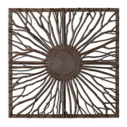 Uttermost - Natural Wood Josiah Square Wall Art - Natural Wood Josiah Square Wall Art