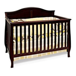 Child Craft Camden 4-in-1 Convertible Crib - Jamocha - Topped by a soft arch and rich in other subtle details the Child Craft Camden 4-in-1 Convertible Crib - Jamocha converts from a crib to a day bed to a toddler bed with all included parts (toddler bed conversion stretcher rail is included - toddler bed guard rail sold separately) to carry you all the way through the toddler years. But it's not done yet. This crib can also convert to a complete full size bed with the addition of full size bed rails (sold separately). Crib is constructed from select hardwoods with a strong steel mattress support that can be adjusted to two heights. This crib is finished to perfection using a baby safe non-toxic Jamocha finish. Limited lifetime warranty. About FoundationsFoundations is a brand focused on the absolute safety and well being of all children and their products show it. Though used throughout the world by commercial customers Foundations products extend to use in the home as well.
