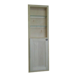 None - 48-inch Recessed in the Wall Baldwin Medicine Storage Cabinet with 24-inch Open - Add a ...