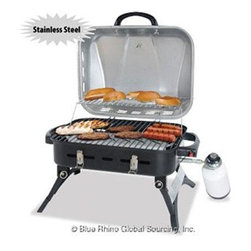 Blue Rhino - Blue Rhino Gas Outdoor Grill Stainless Steel 272 sq. in. - Blue Rhino Outdoor LP Gas Barbecue - Stainless Steel Lid ...Portable and powerful this Blue Rhino Outdoor LP Gas Grill is ready for your next barbecue. It's cooking surface can handle up to 13 burgers (385 Sq. in.)