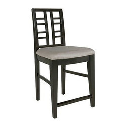 Broyhill - Prespectives Counter Height Stool (Set Of 2) - 4444-593 - This contemporary lattice back upholstered counter stool will bring modern elegance to any dining room with its sleek design.