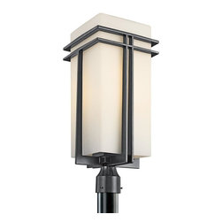 Kichler - Kichler Tremillo 1-Light Black (Painted) Post Light - 49204BK - This 1-Light Post Light is part of the Tremillo Collection and has a Black (painted) Finish. It is Outdoor Capable.