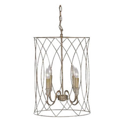 Gabby - Mia Chandelier - This is an elegant hanging fixture crafted of gilded metal and antique style candles. It is an excellent light to use with in a foyer or hanging over a rustic oak table in a kitchen or dining area. No matter where you put this piece, the Mia will be right