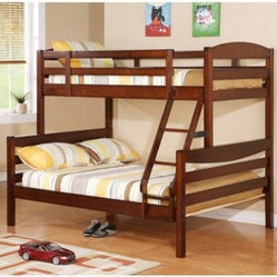 Sunset Twin Over Full Bunk Bed - Brown