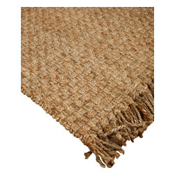 """Natural Area Rugs - """"Carlisle"""" Jute Rug, 100% Natural Jute, Hand Woven, Reversible, Beige - Free & Same Day Shipping within Continental USA. International Shipping Available (Contact us for a quote). All natural, hand woven by Artisan rug maker. Jute is naturally durable yet soft. Like any rug, rug pads are recommended as it will prolong the longevity of your jute rug and protect hardwood floor. Do not pull loose fiber, clip and remove the loose ends with scissors. Variations are part of the natural beauty of natural fiber."""