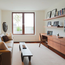 Contemporary Home Office by Lisa Dubin Architect