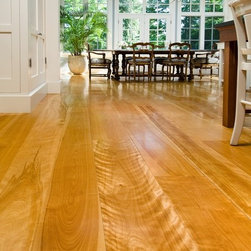 Yellow Birch - Birch is a unique floor prized for an intriguing combination of color tones, and varying grain patterns with subtle swirls to flame like character that seems to dance across the board.