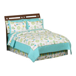 Sweet Jojo Designs - Layla 4-Piece Twin Bedding Set by Sweet Jojo Designs - The Layla 4-Piece Twin Bedding Set by Sweet Jojo Designs, along with the  bedding accessories.