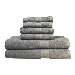 Baltic Linen Company Ultraspun Soft Absorbent 100% Cotton 6 pc. Towel Set - Enjoy instant comfort right out of the bath or shower with the Baltic Linen Company Ultraspun Soft Absorbent 100% Cotton 6 pc. Towel Set. This six-piece set comes complete with everything you need to supply your bathroom with cozy style. Constructed of 100% ringspun cotton for super softness and optimum absorbancy these towels are heavy weight and extra durable. Oversized and super soft to boot this set contains two wash cloths hand and bath towels all of which are available in a variety of handsome color options. Machine-washable for your convenience - just wash in cold water and dry on a cool setting for best results. Dimensions: Wash Cloth (each): 12 x 12 in. Hand Towel (each): 16 x 28 in. Bath Towel (each): 27 x 54 in.