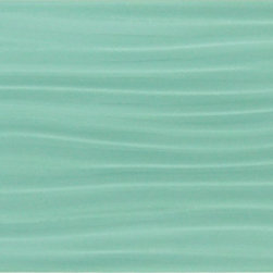 "Euro Glass - Soft Mint-Sold by Box 4"" x 12"" Green Bathroom Glossy Glass - Tile Size: 4"" x 12"""