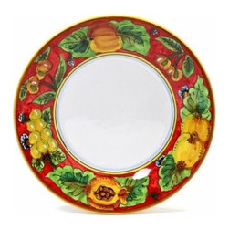 Artistica - Hand Made in Italy - Geribi:Salad Plate Fruits Red - Geribi Collection:
