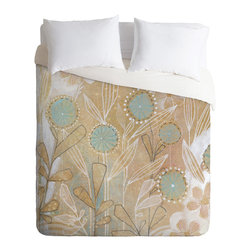 DENY Designs - Cori Dantini Blue Floral Duvet Cover - Turn your basic, boring down comforter into the super stylish focal point of your bedroom. Our Luxe Duvet is made from a heavy-weight luxurious woven polyester with a 50% cotton/50% polyester cream bottom. It also includes a hidden zipper with interior corner ties to secure your comforter. it's comfy, fade-resistant, and custom printed for each and every customer.